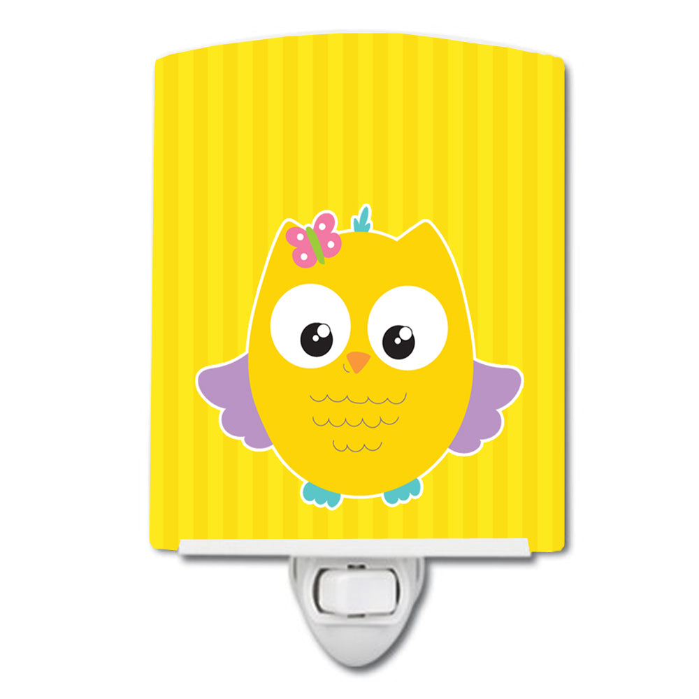 Owl and Yellow Stripes Ceramic Night Light BB9115CNL by Caroline's Treasures