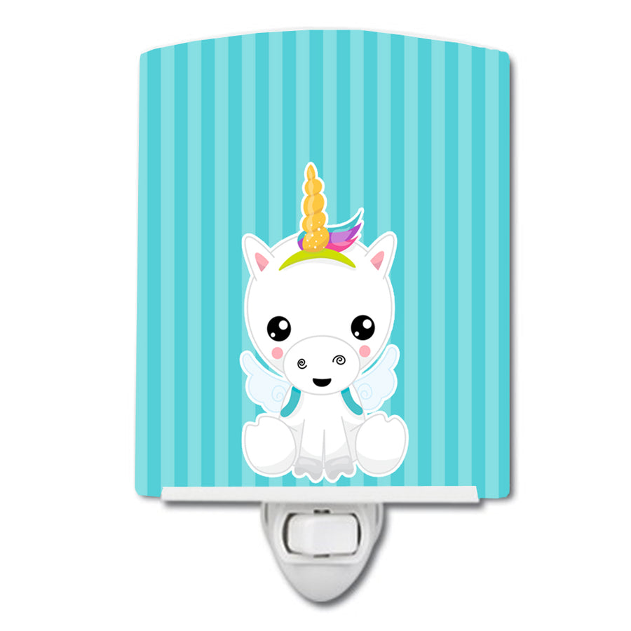 Buy this Unicorn on Blue Stripes Ceramic Night Light BB9141CNL