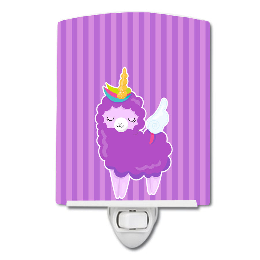Buy this Sheep Unicorn on Stripes Ceramic Night Light BB9143CNL