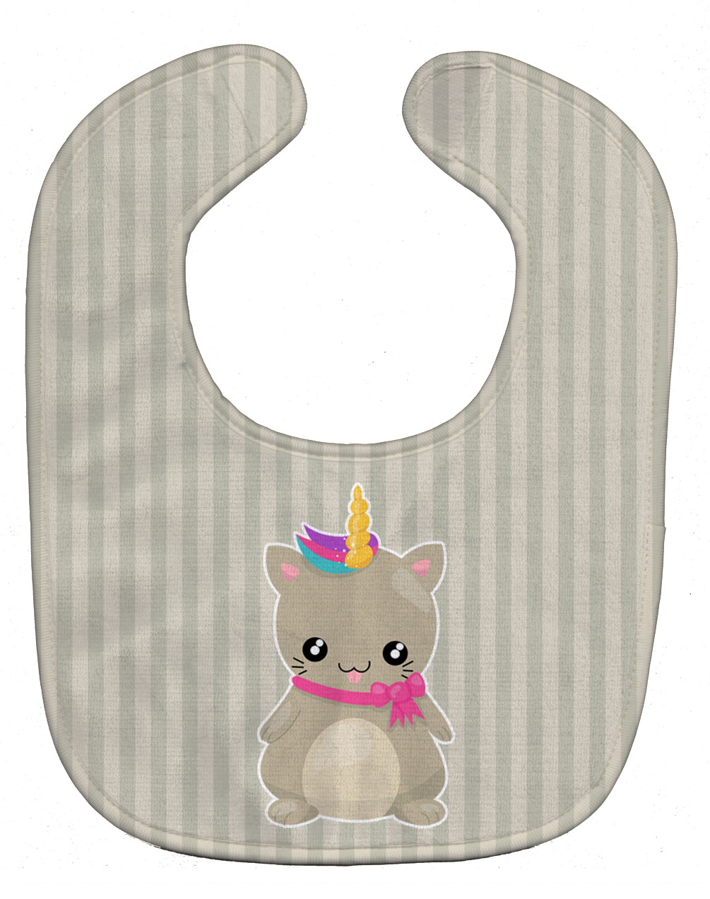 Buy this Mouse Unicorn on Stripes Baby Bib BB9144BIB