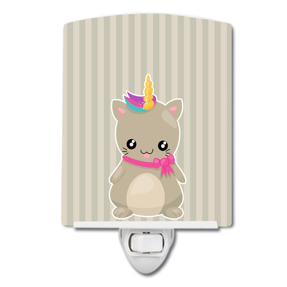 Mouse Unicorn on Stripes Ceramic Night Light BB9144CNL by Caroline's Treasures