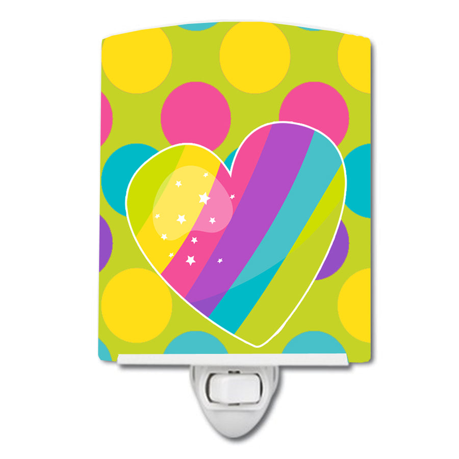 Buy this Multicolor Rainbow Heart Ceramic Night Light BB9145CNL