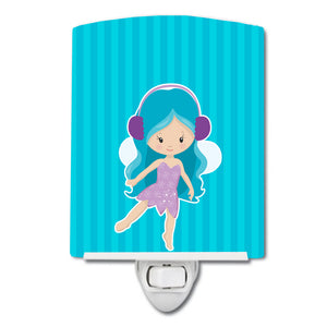 Buy this Blue Haired Fairy Ceramic Night Light BB9147CNL