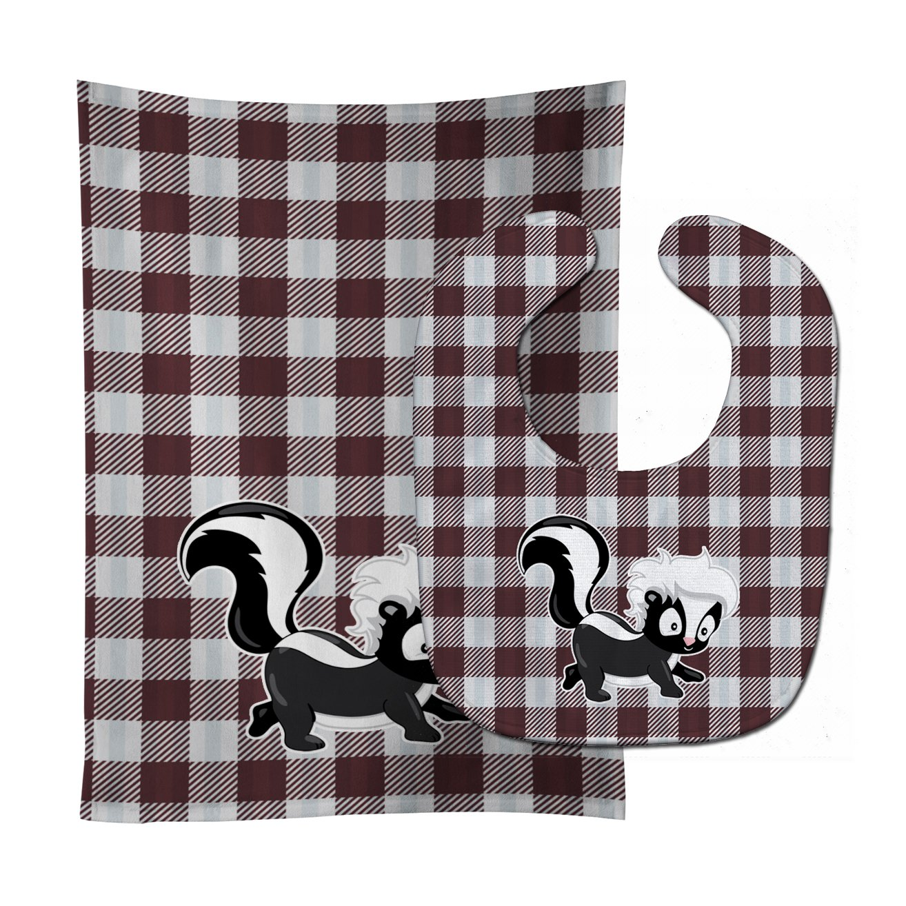 Skunk Baby Bib & Burp Cloth BB9168STBU by Caroline's Treasures
