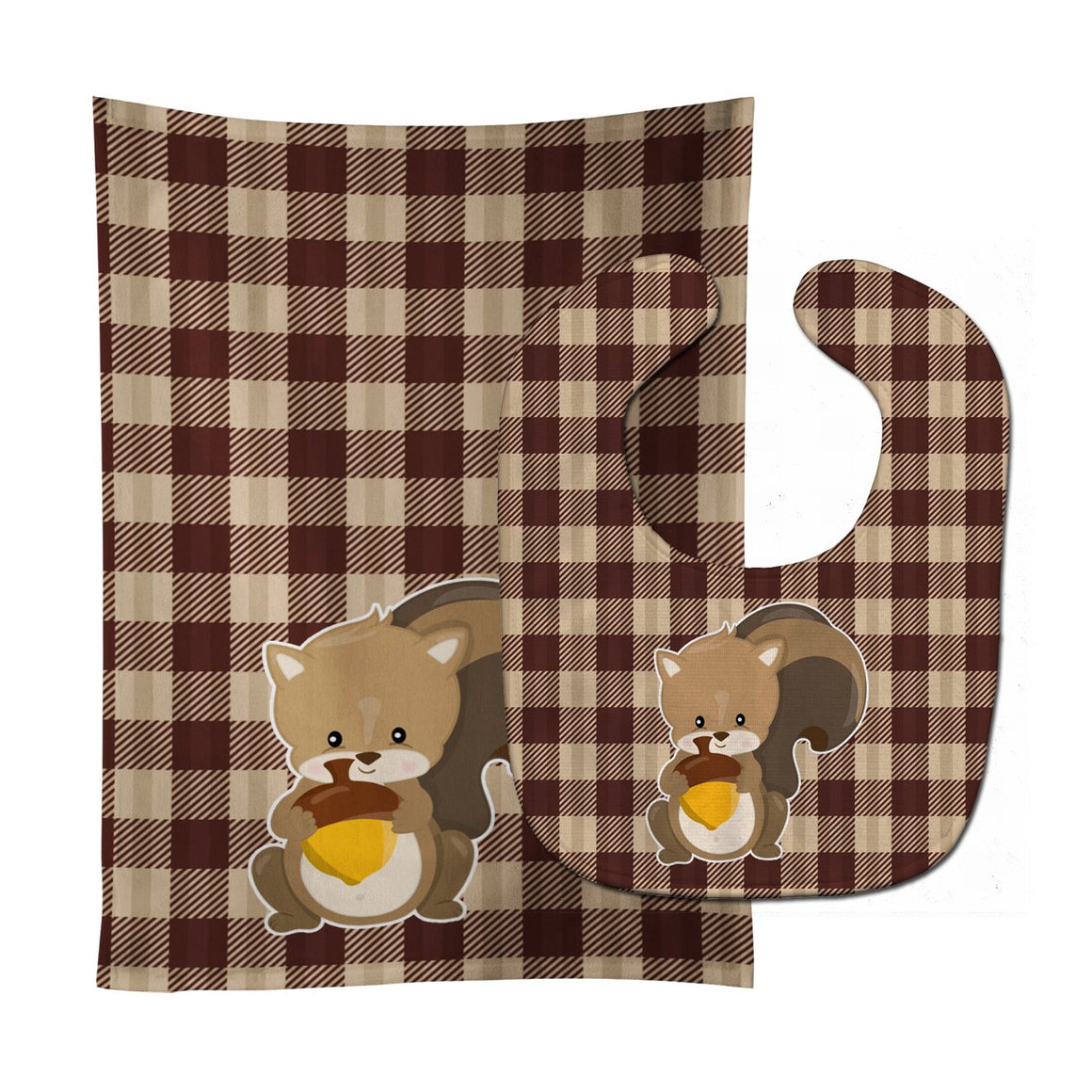 Buy this Squirrel Baby Bib & Burp Cloth BB9169STBU