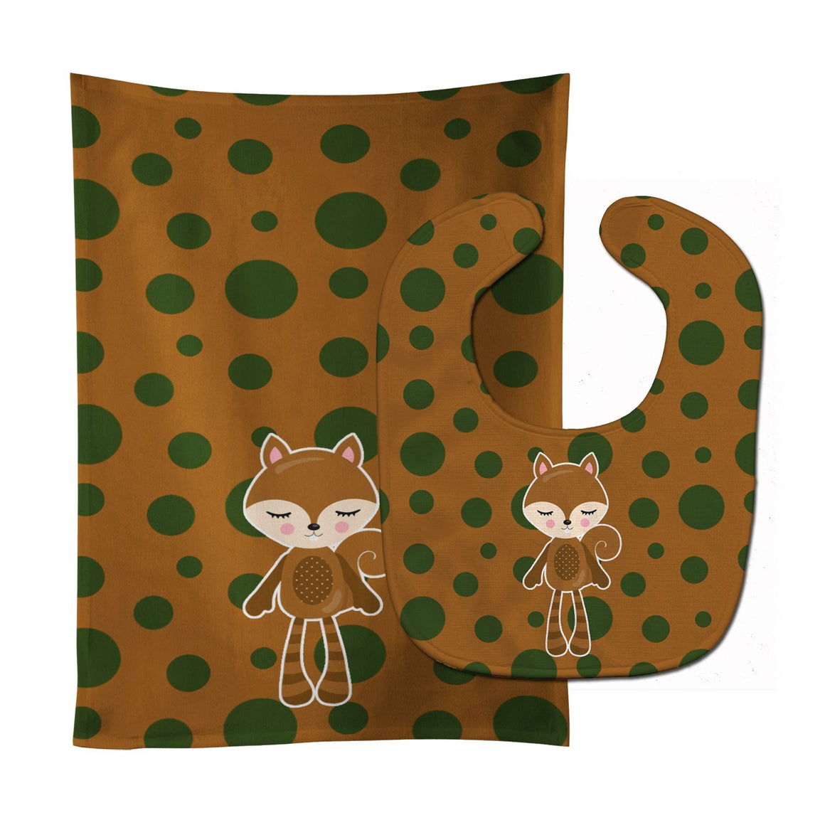 Buy this Squirrel #2 Baby Bib & Burp Cloth BB9179STBU