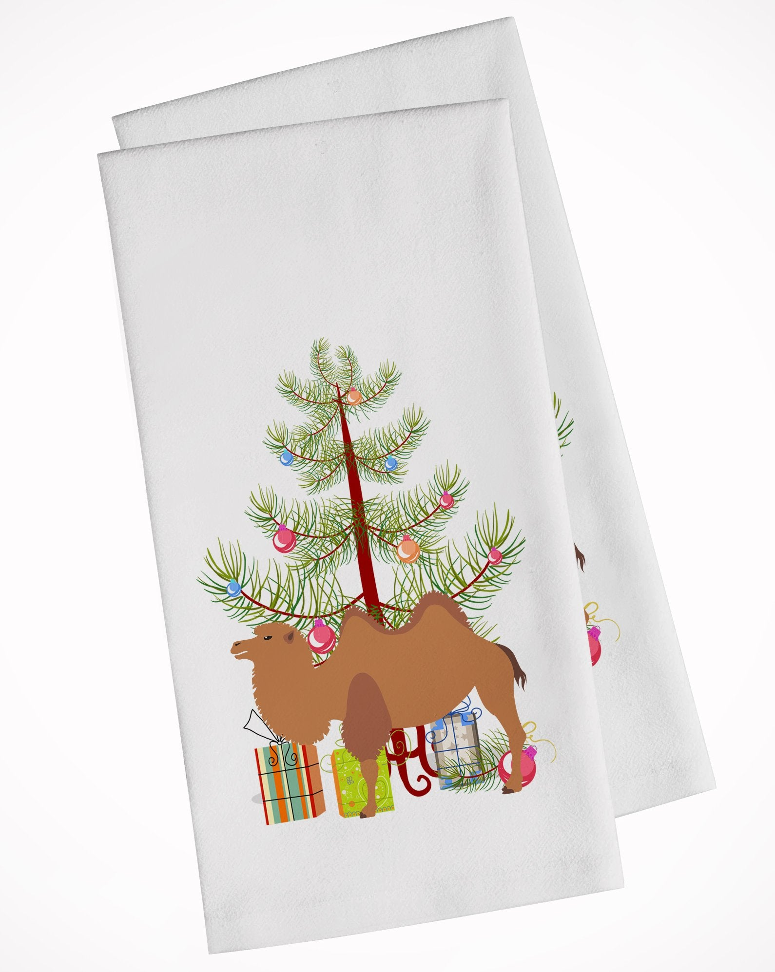 Buy this Bactrian Camel Christmas White Kitchen Towel Set of 2 BB9185WTKT