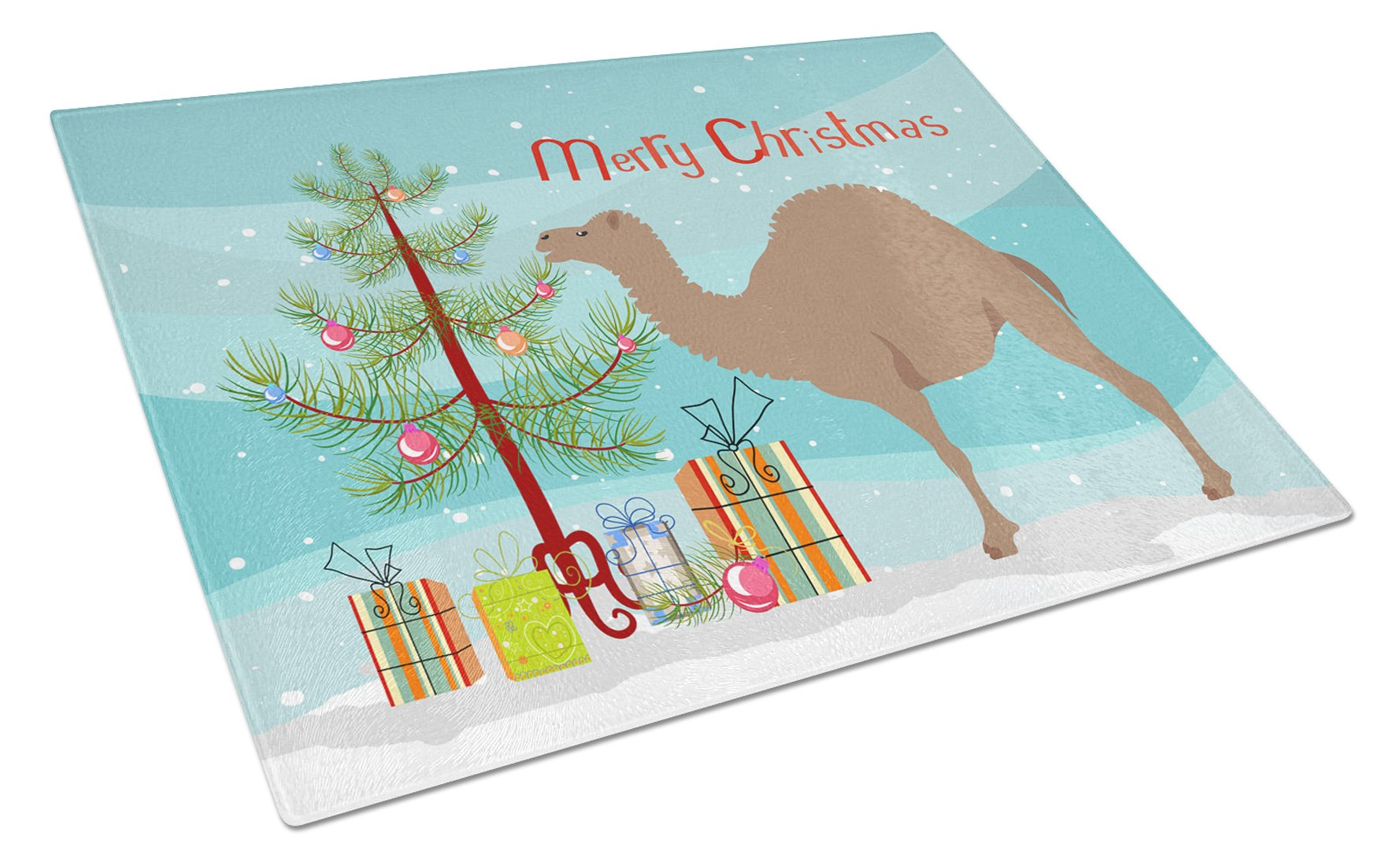 F1 Hybrid Camel Christmas Glass Cutting Board Large BB9186LCB by Caroline's Treasures