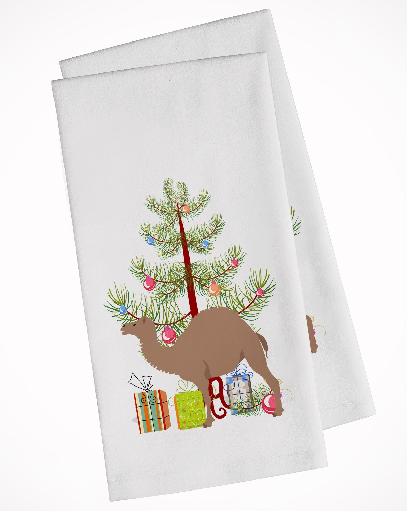 Buy this F1 Hybrid Camel Christmas White Kitchen Towel Set of 2 BB9186WTKT