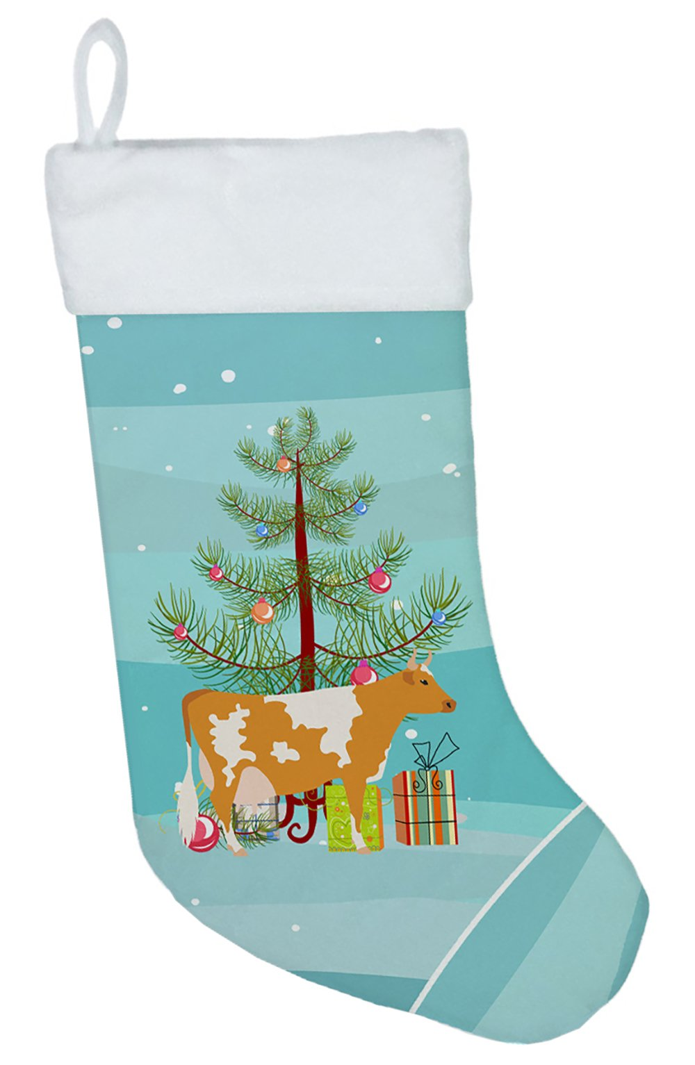 Guernsey Cow Christmas Christmas Stocking BB9188CS by Caroline's Treasures