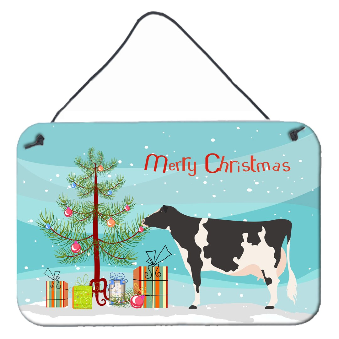 Holstein Cow Christmas Wall or Door Hanging Prints BB9189DS812 by Caroline's Treasures