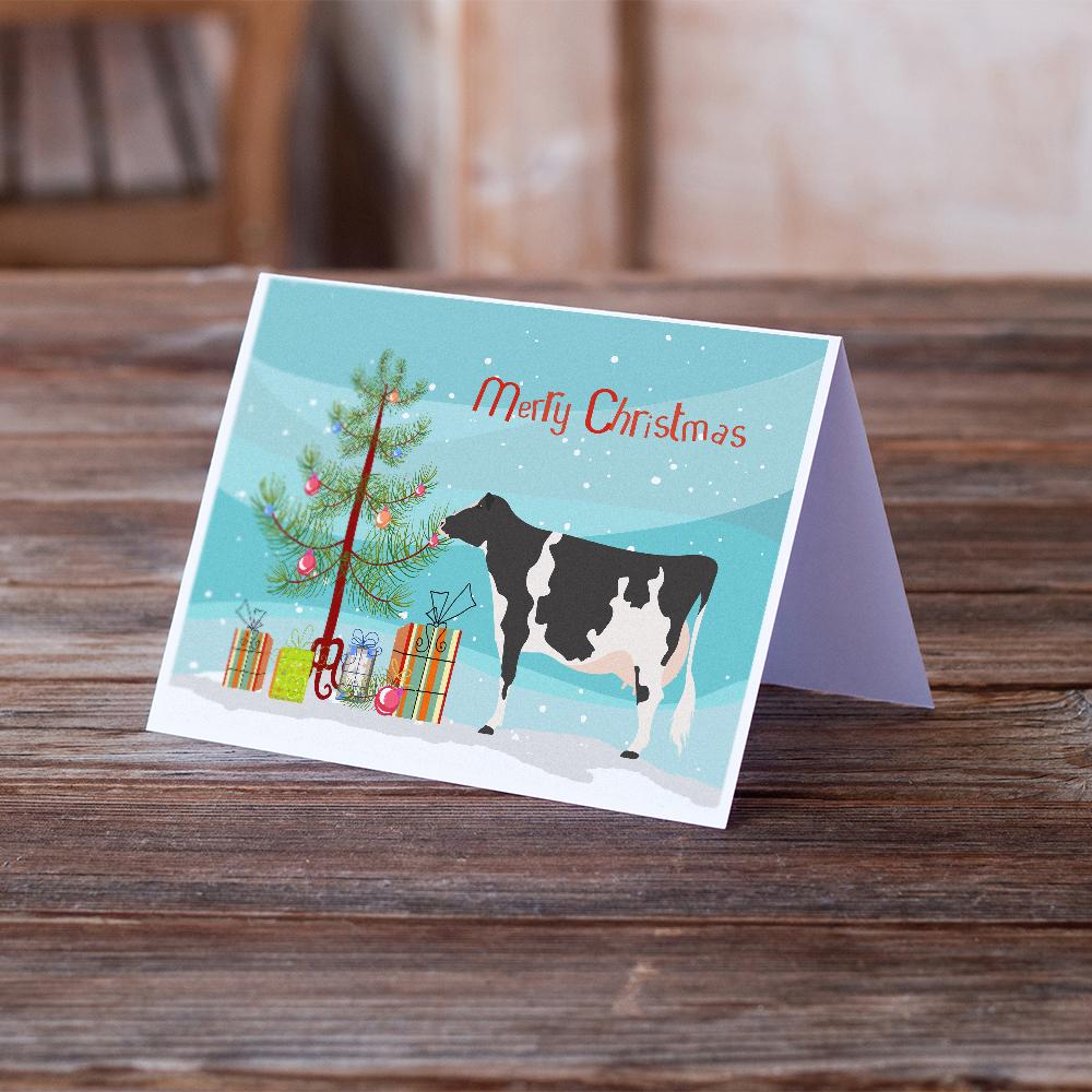 Buy this Holstein Cow Christmas Greeting Cards and Envelopes Pack of 8