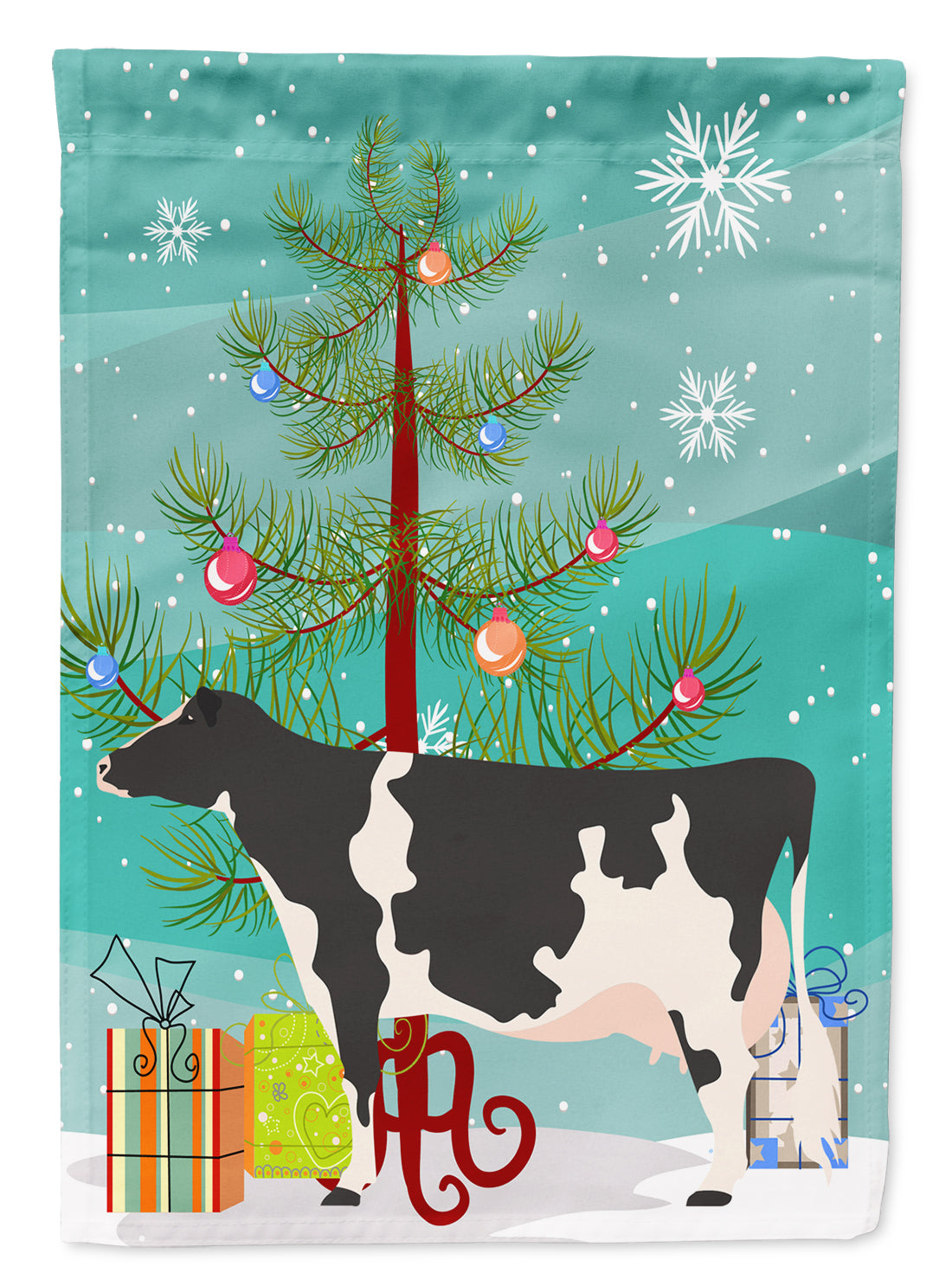 Holstein Cow Christmas Flag Garden Size BB9189GF by Caroline's Treasures