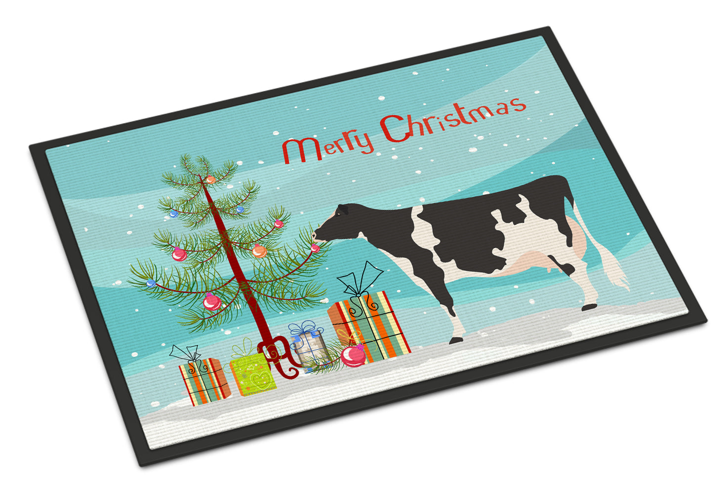 Holstein Cow Christmas Indoor or Outdoor Mat 18x27 BB9189MAT by Caroline's Treasures