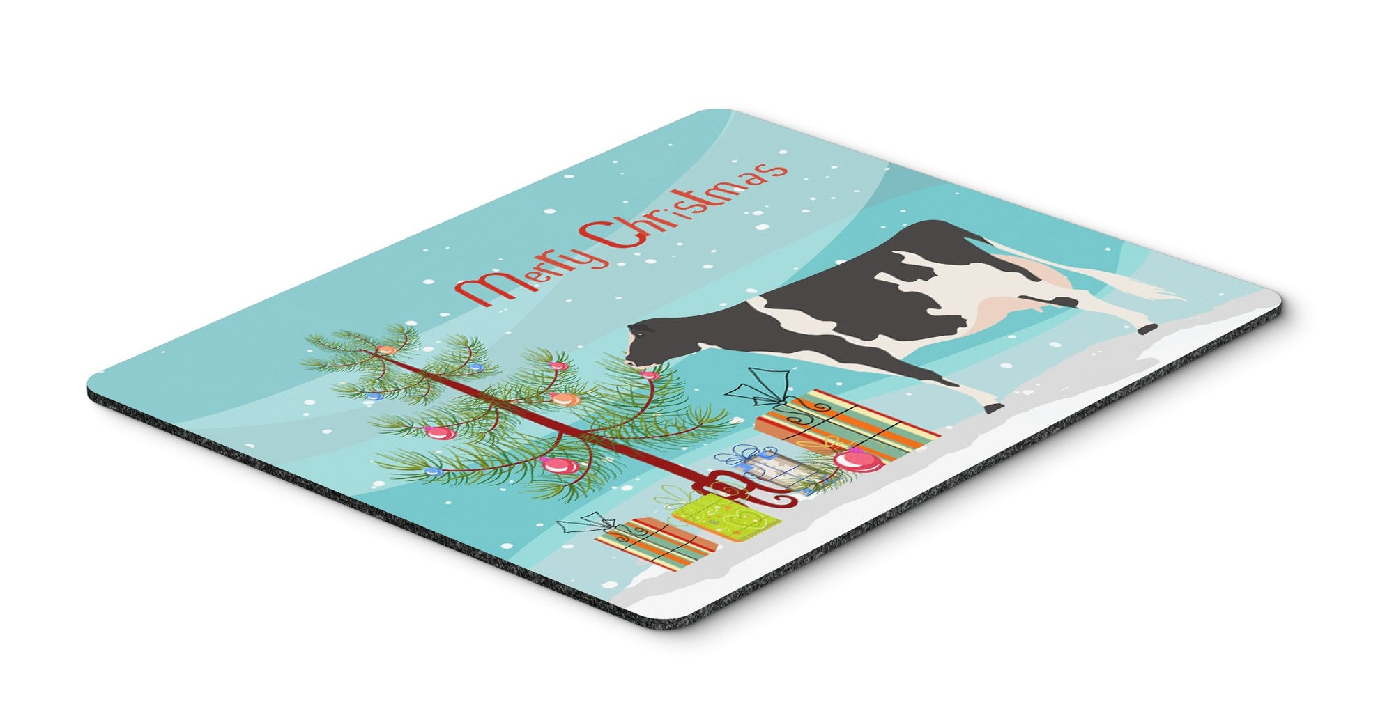 Holstein Cow Christmas Mouse Pad, Hot Pad or Trivet BB9189MP by Caroline's Treasures