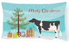Holstein Cow Christmas Canvas Fabric Decorative Pillow BB9189PW1216 by Caroline's Treasures