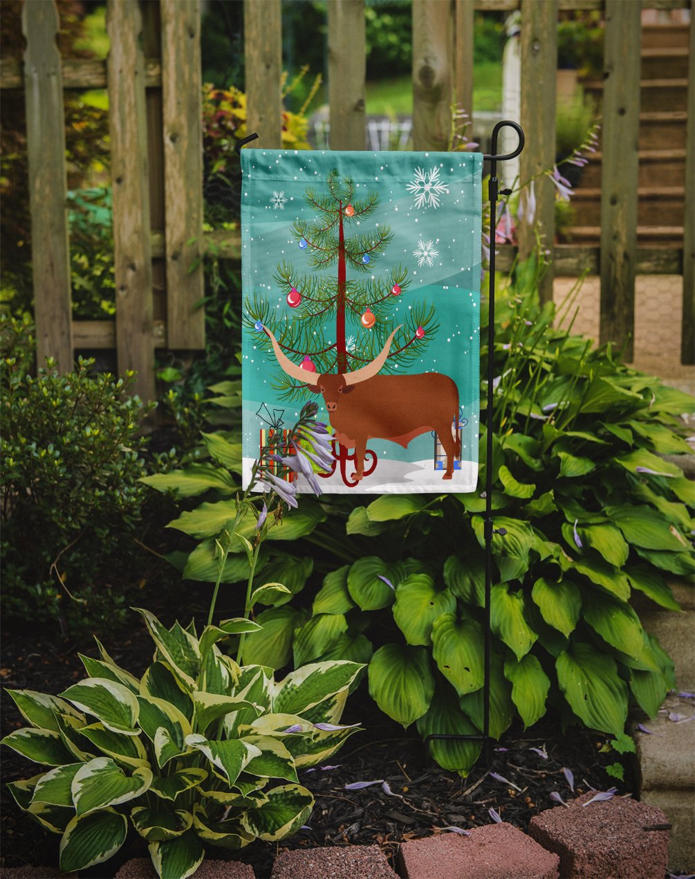 Ankole-Watusu Cow Christmas Flag Garden Size BB9190GF by Caroline's Treasures
