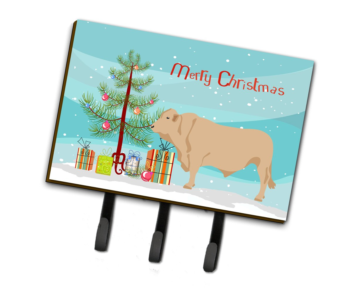 Buy this Charolais Cow Christmas Leash or Key Holder BB9193TH68