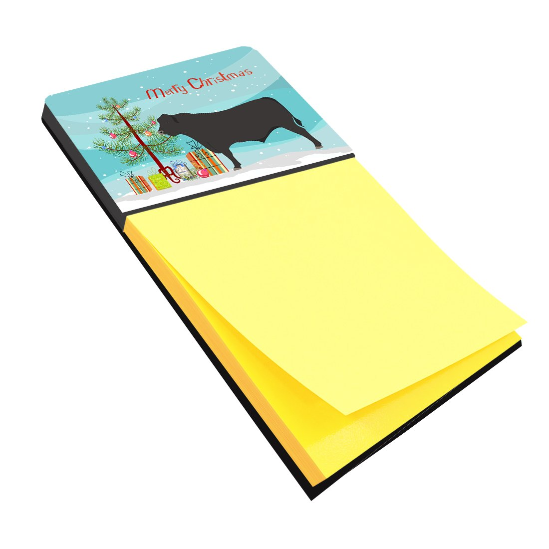 Black Angus Cow Christmas Sticky Note Holder BB9195SN by Caroline's Treasures