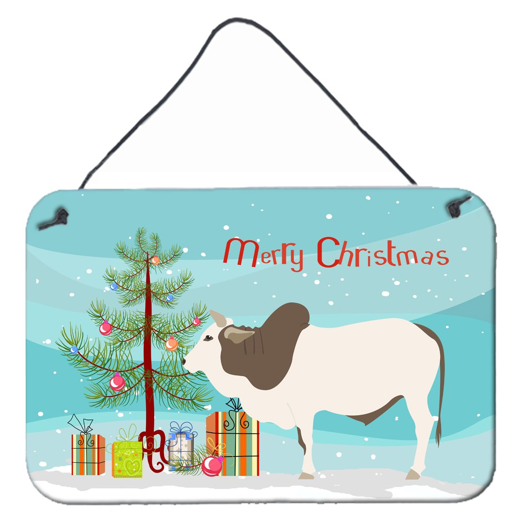 Malvi Cow Christmas Wall or Door Hanging Prints BB9197DS812 by Caroline's Treasures