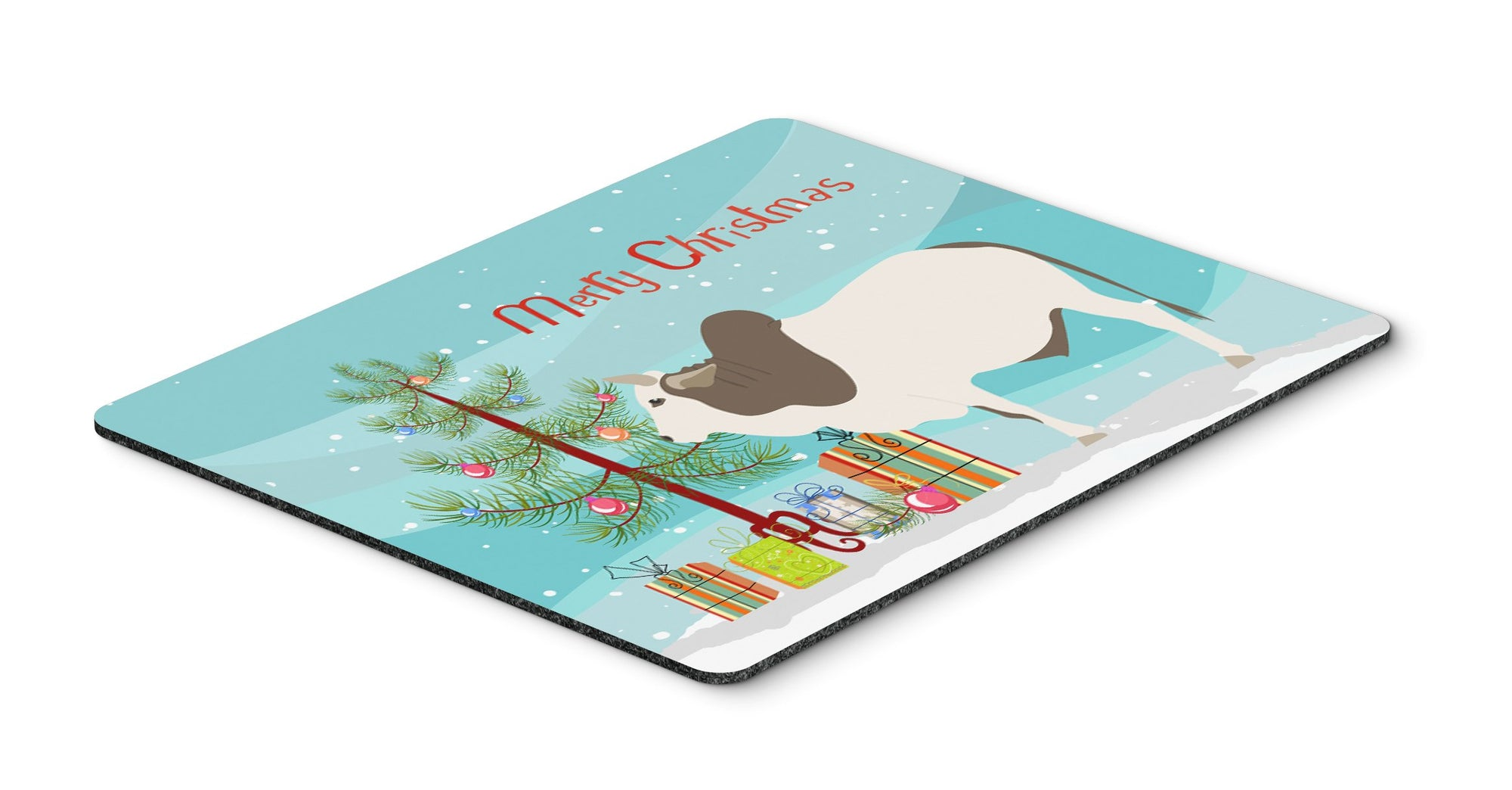 Malvi Cow Christmas Mouse Pad, Hot Pad or Trivet BB9197MP by Caroline's Treasures