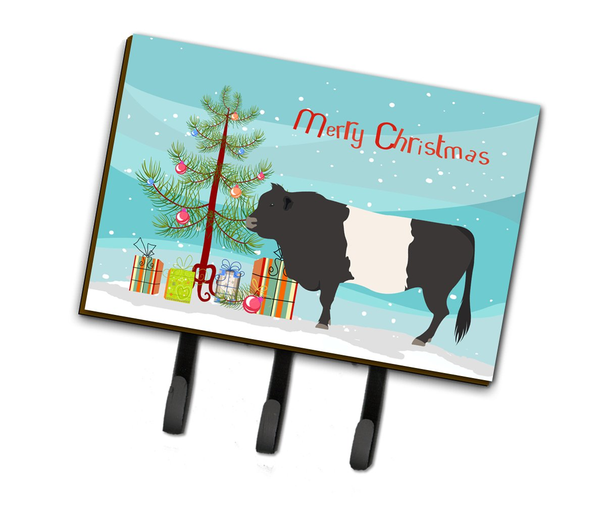 Belted Galloway Cow Christmas Leash or Key Holder BB9198TH68 by Caroline's Treasures