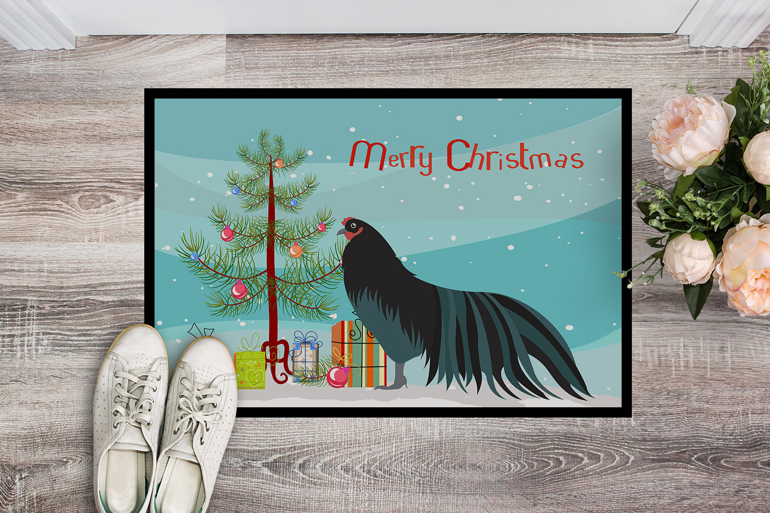 Sumatra Chicken Christmas Indoor or Outdoor Mat 18x27 BB9200MAT by Caroline's Treasures