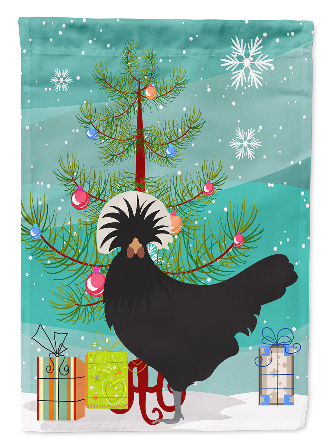 Buy this Polish Poland Chicken Christmas Flag Garden Size BB9201GF