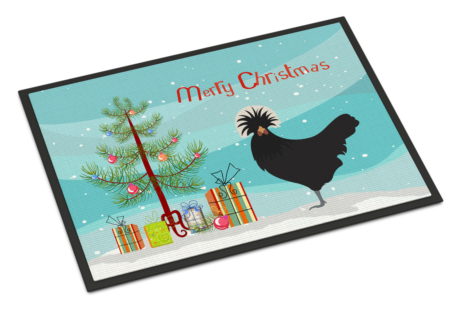 Polish Poland Chicken Christmas Indoor or Outdoor Mat 18x27 BB9201MAT by Caroline's Treasures