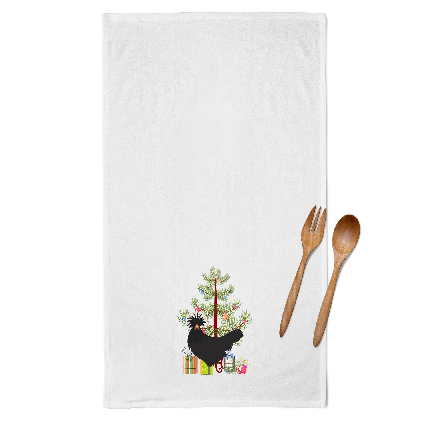 Polish Poland Chicken Christmas White Kitchen Towel Set of 2 BB9201WTKT by Caroline's Treasures