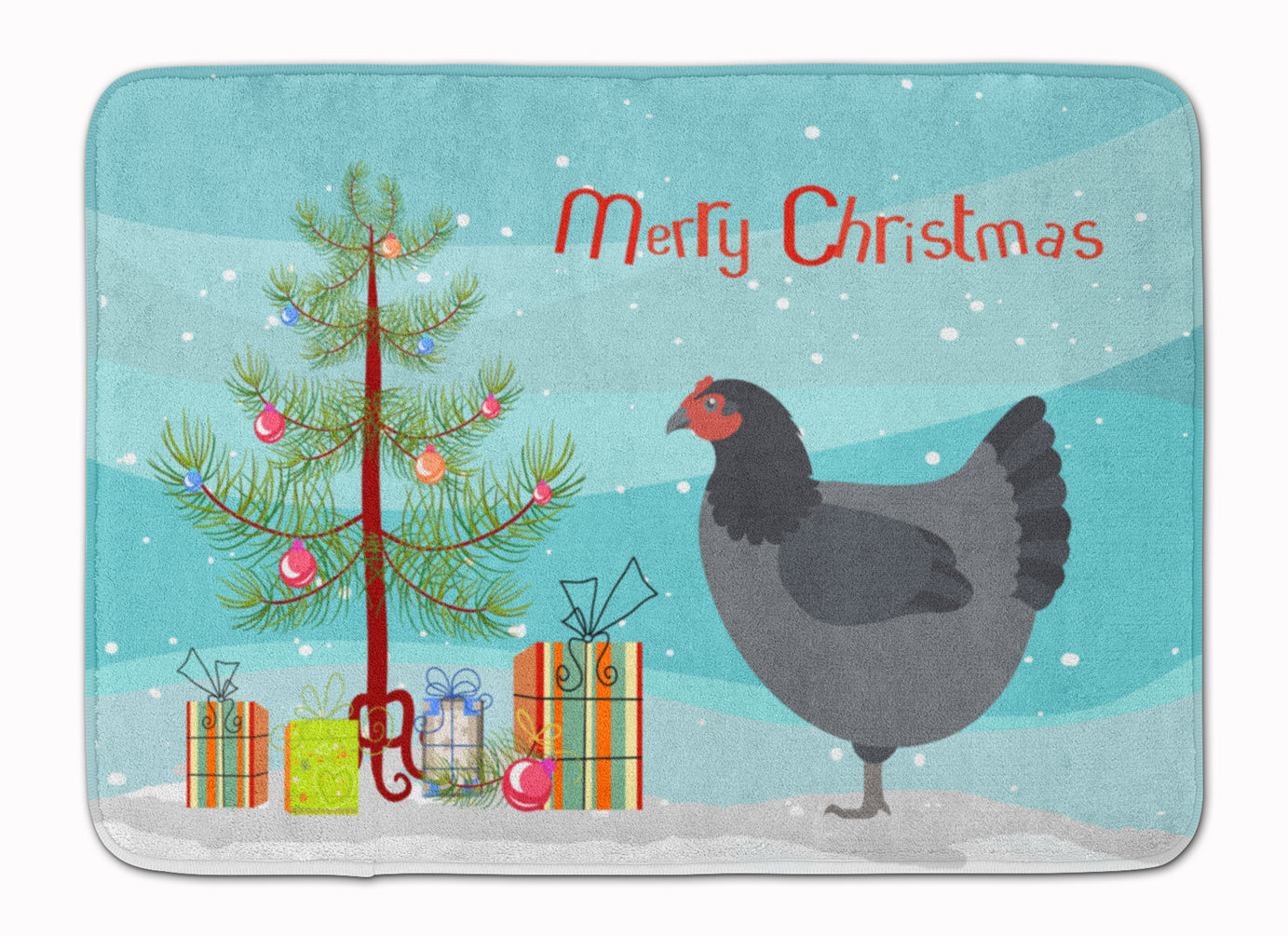 Jersey Giant Chicken Christmas Machine Washable Memory Foam Mat BB9202RUG by Caroline's Treasures