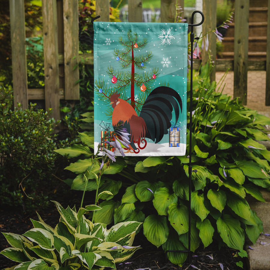 Buy this Dutch Bantam Chicken Christmas Flag Garden Size BB9203GF