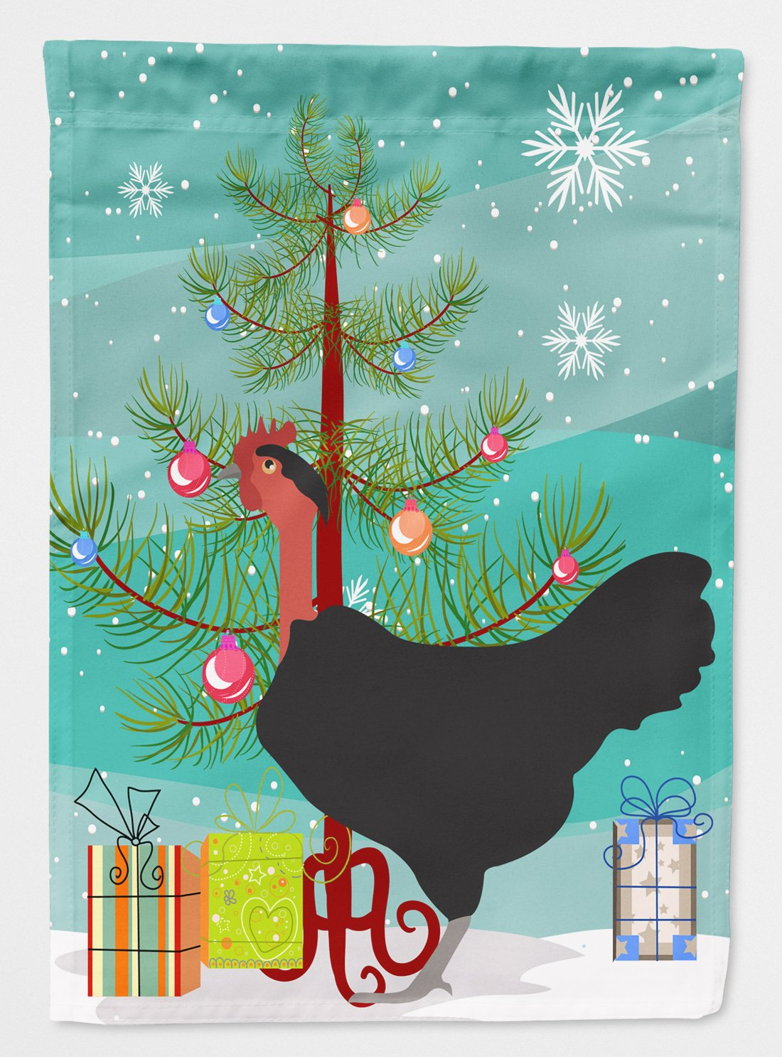 Buy this Naked Neck Chicken Christmas Flag Garden Size BB9206GF