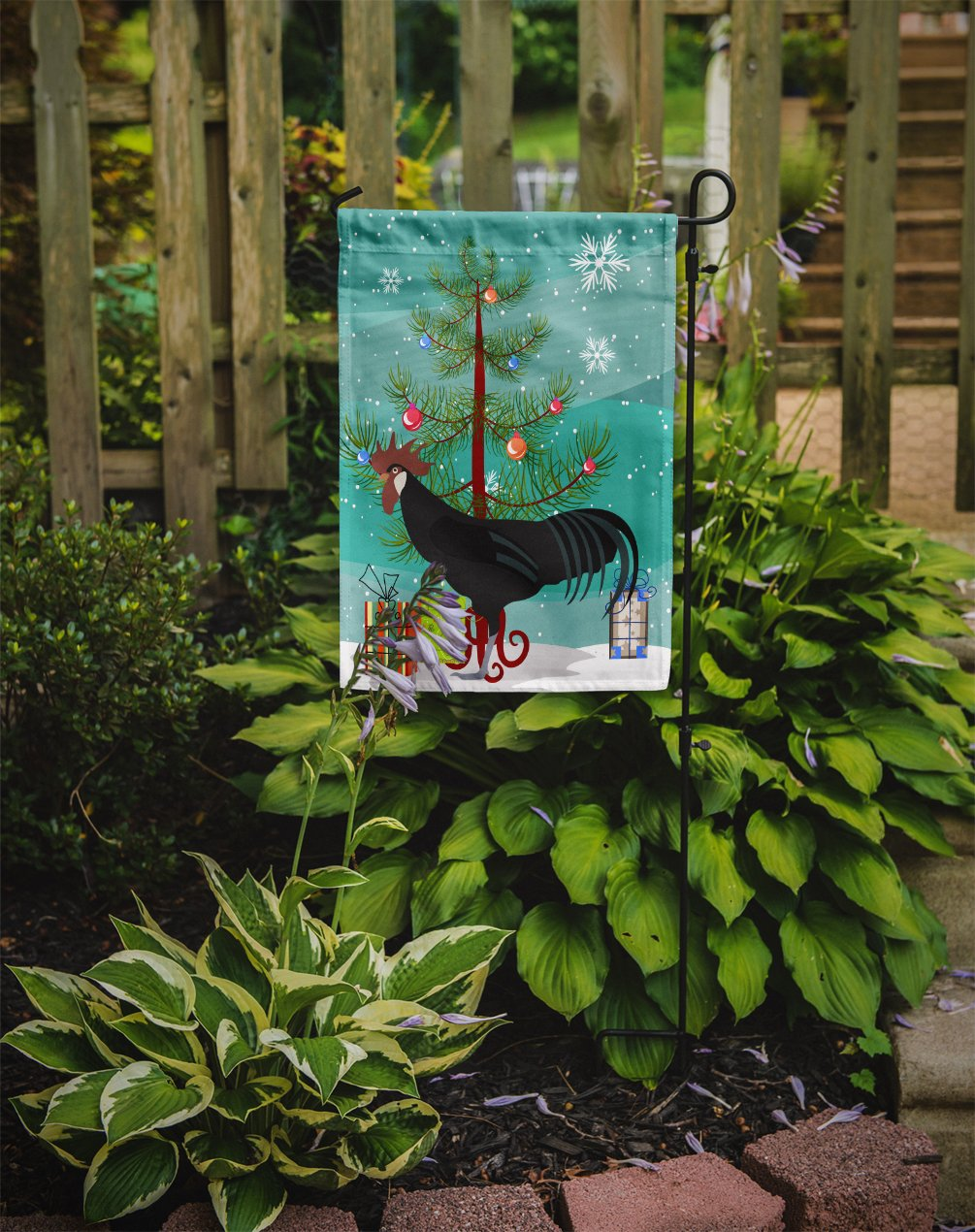 Minorca Ctalalan Chicken Christmas Flag Garden Size BB9208GF by Caroline's Treasures