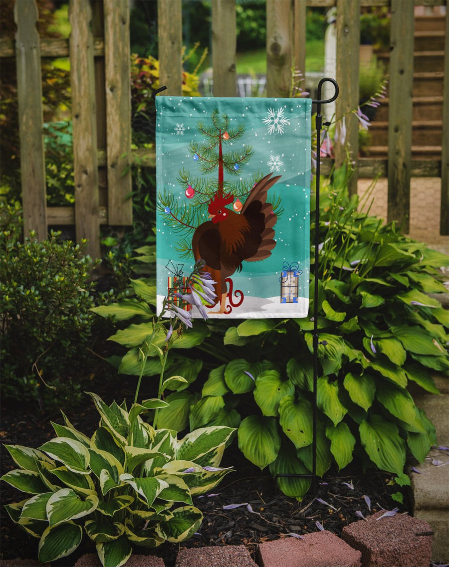 Buy this Malaysian Serama Chicken Christmas Flag Garden Size BB9209GF