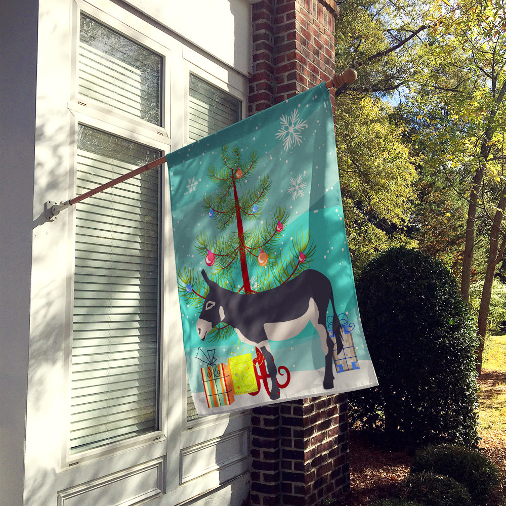American Mammoth Jack Donkey Christmas Flag Canvas House Size BB9211CHF by Caroline's Treasures