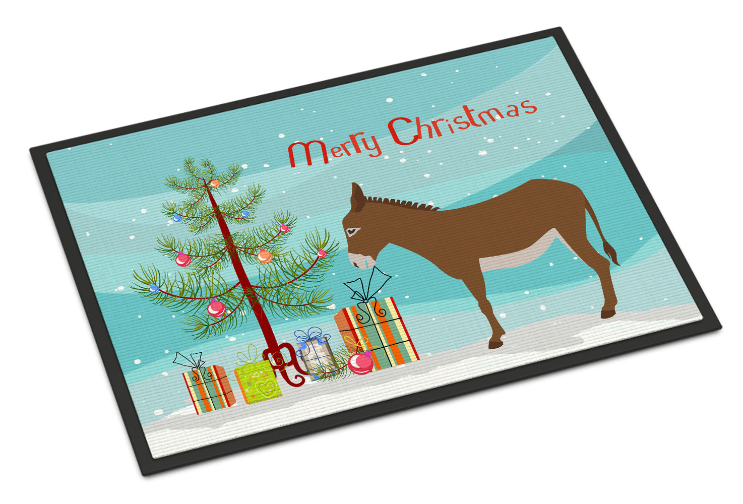 Cotentin Donkey Christmas Indoor or Outdoor Mat 18x27 BB9216MAT by Caroline's Treasures