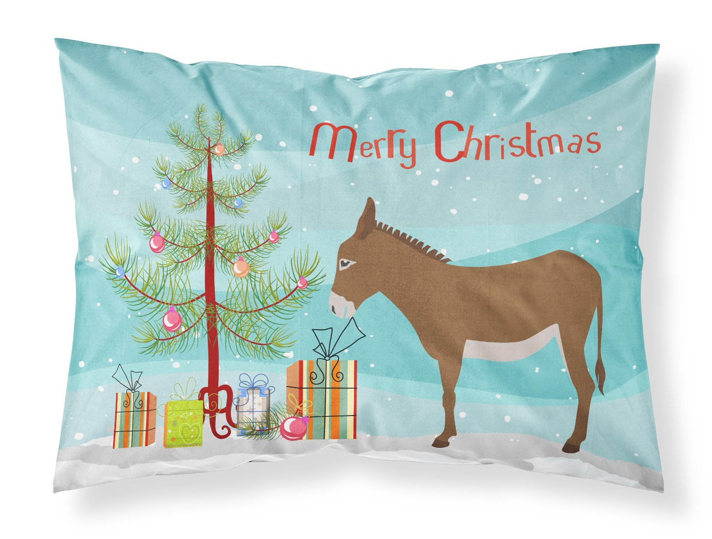 Cotentin Donkey Christmas Fabric Standard Pillowcase BB9216PILLOWCASE by Caroline's Treasures