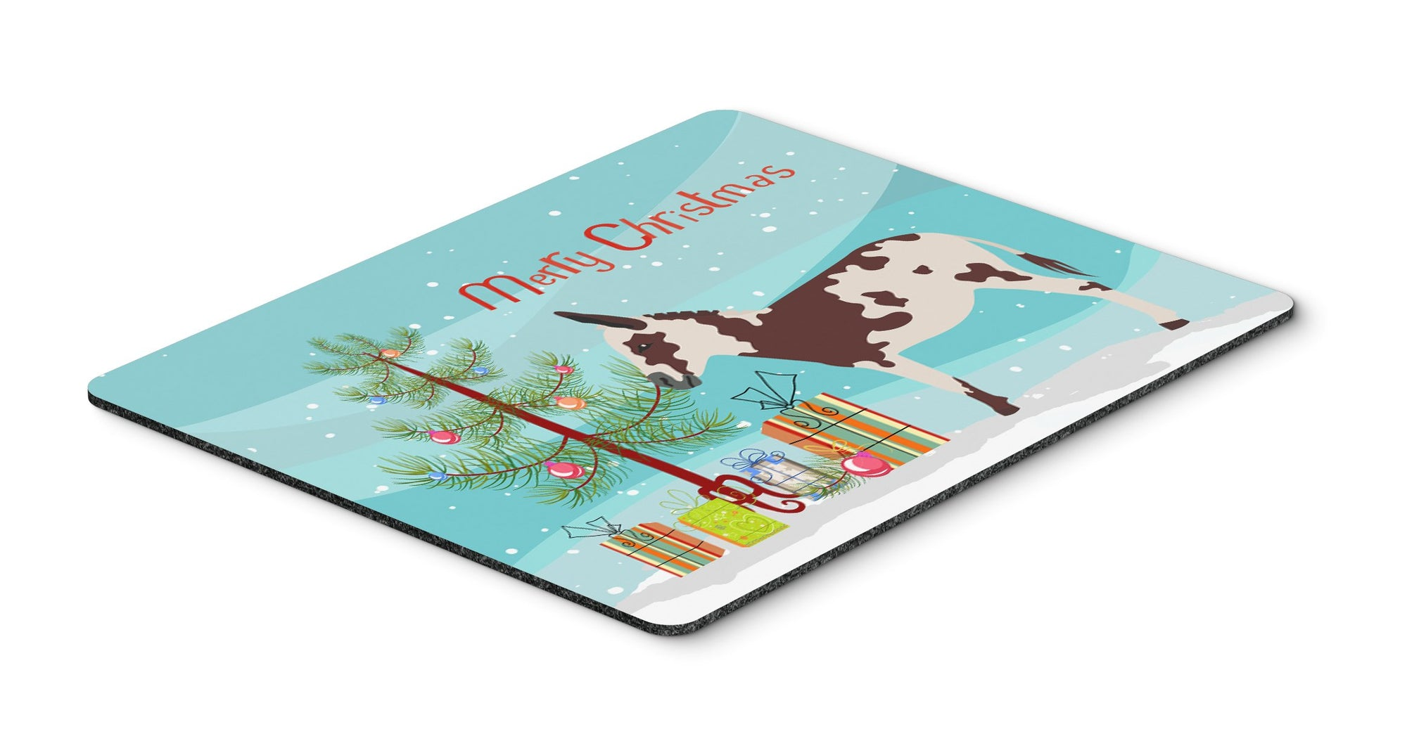 American Spotted Donkey Christmas Mouse Pad, Hot Pad or Trivet BB9218MP by Caroline's Treasures