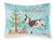 American Spotted Donkey Christmas Fabric Standard Pillowcase BB9218PILLOWCASE by Caroline's Treasures