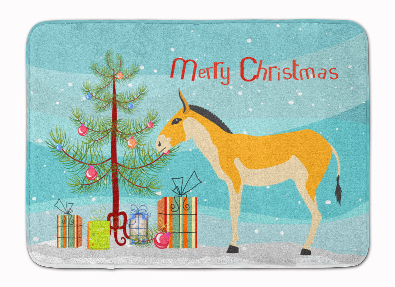 Turkmenian Kulan Donkey Christmas Machine Washable Memory Foam Mat BB9221RUG by Caroline's Treasures