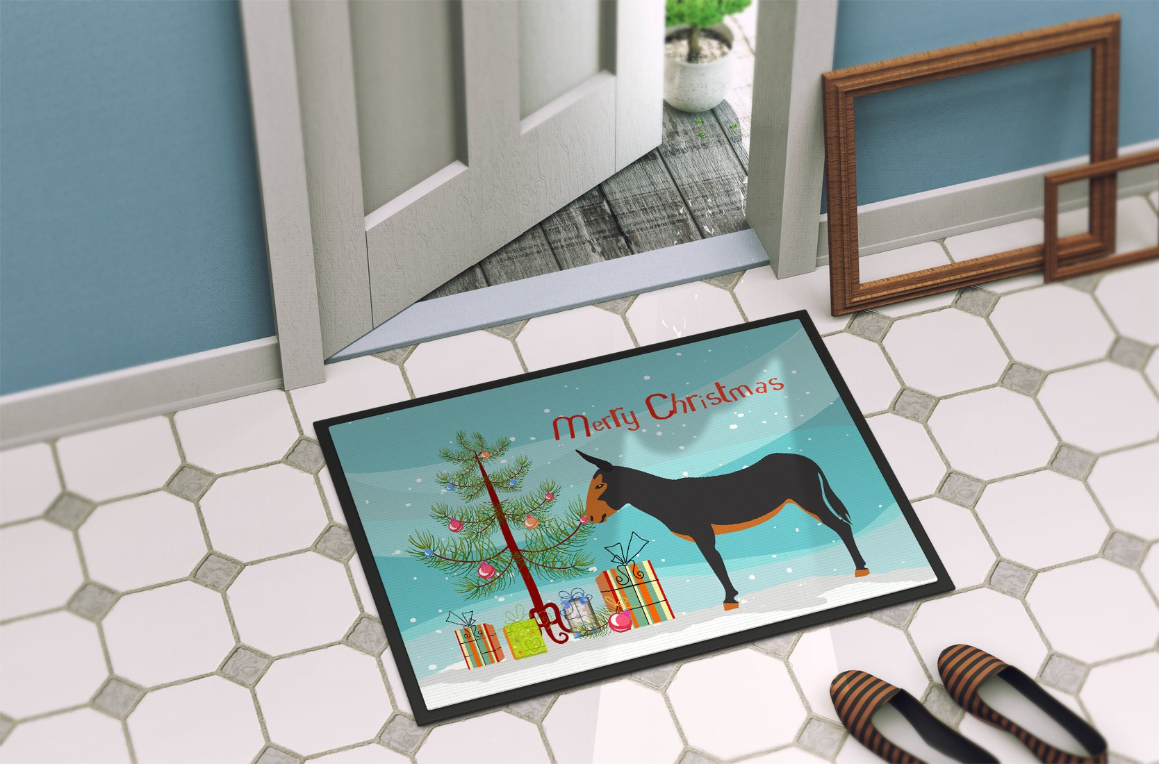 Buy this Catalan Donkey Christmas Indoor or Outdoor Mat 24x36 BB9222JMAT