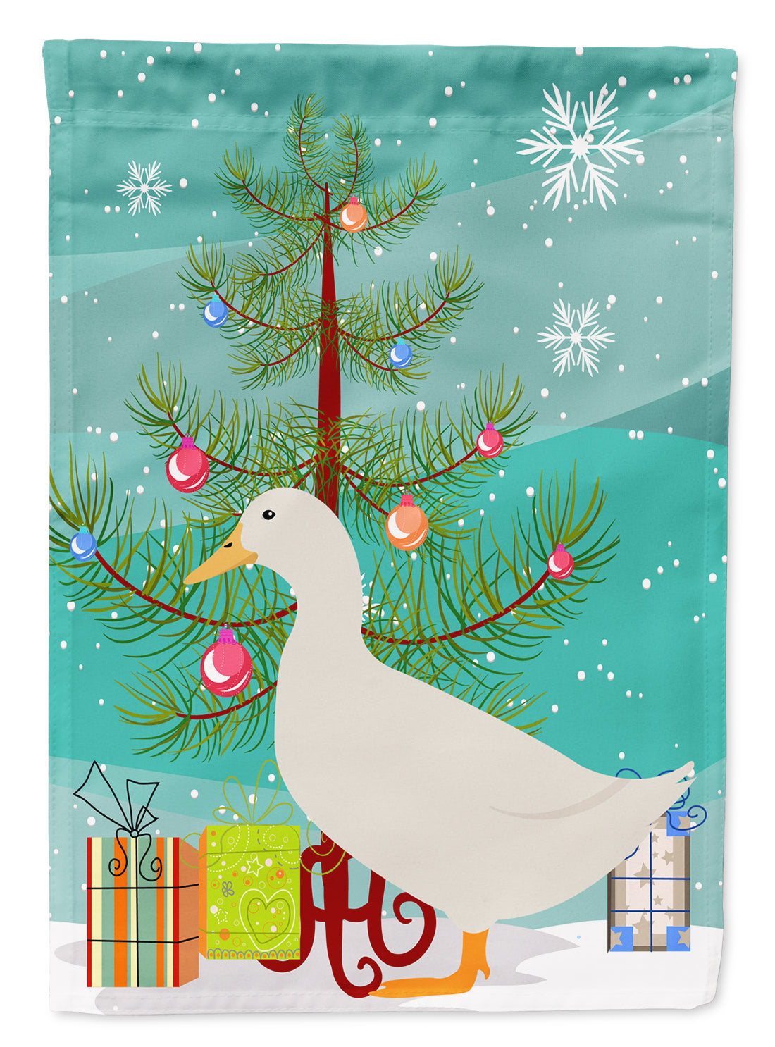 American Pekin Duck Christmas Flag Canvas House Size BB9227CHF by Caroline's Treasures