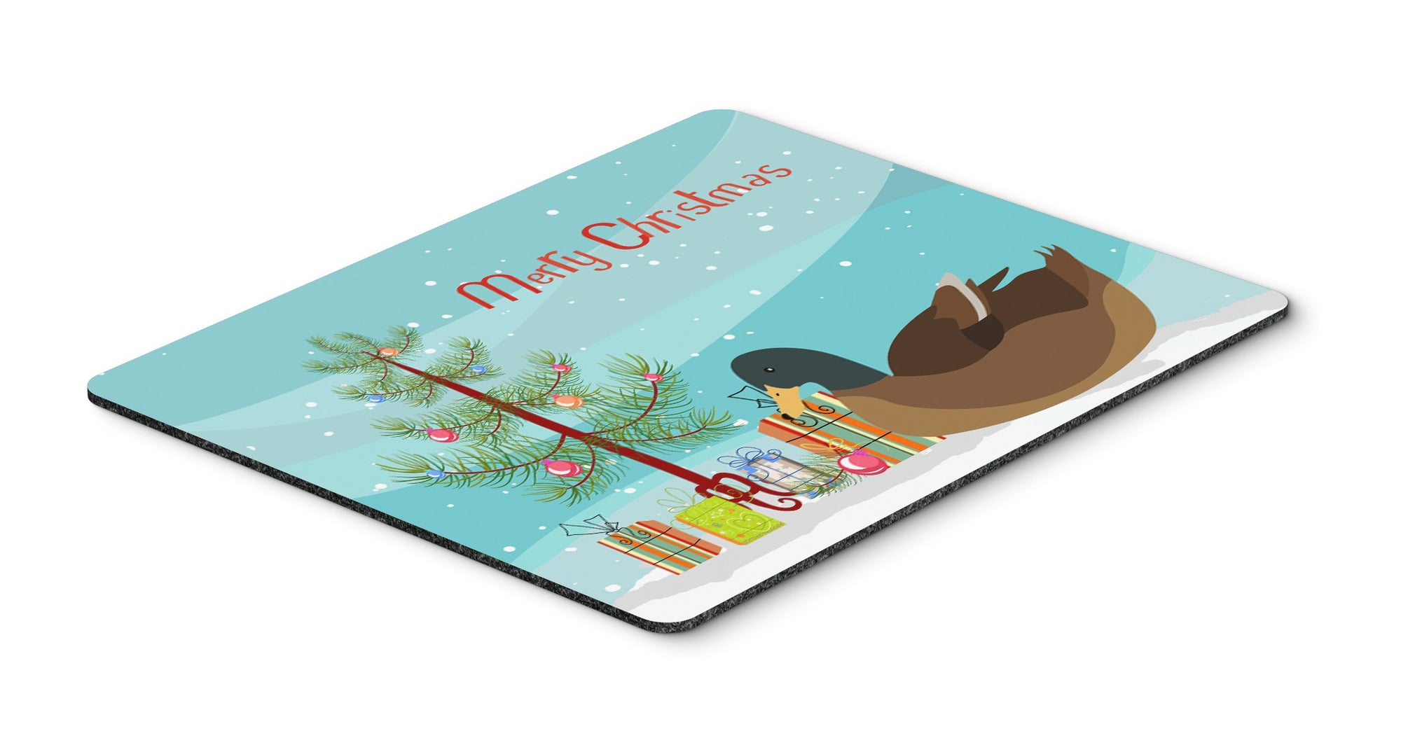 Khaki Campbell Duck Christmas Mouse Pad, Hot Pad or Trivet BB9233MP by Caroline's Treasures