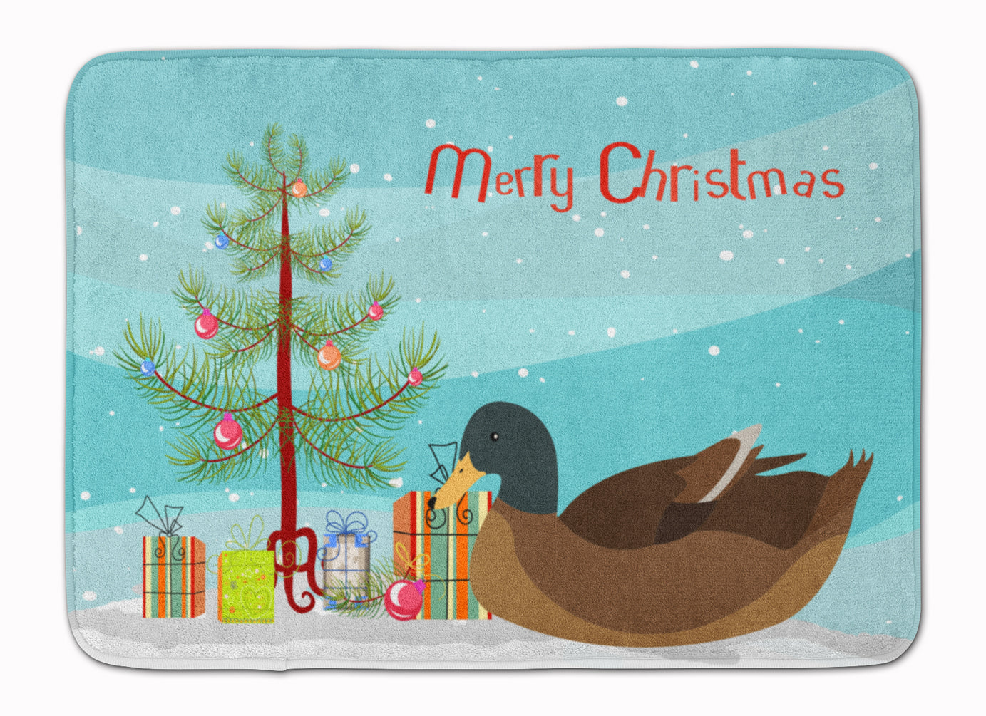 Khaki Campbell Duck Christmas Machine Washable Memory Foam Mat BB9233RUG by Caroline's Treasures