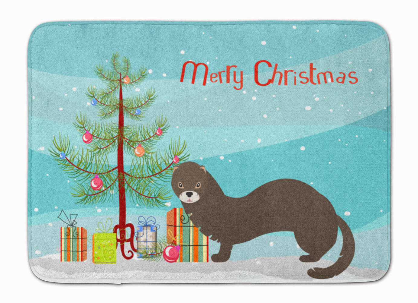 Russian or European Mink Christmas Machine Washable Memory Foam Mat BB9235RUG by Caroline's Treasures