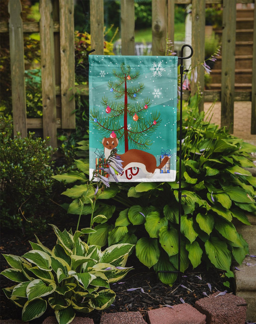 Buy this Weasel Christmas Flag Garden Size BB9237GF