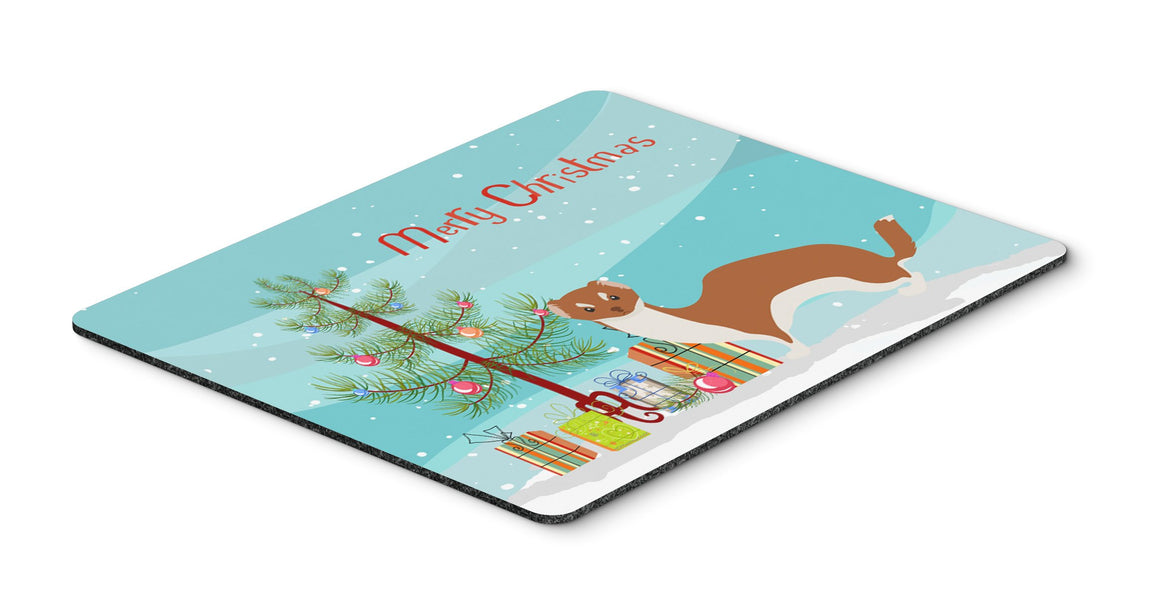 Buy this Weasel Christmas Mouse Pad, Hot Pad or Trivet BB9237MP