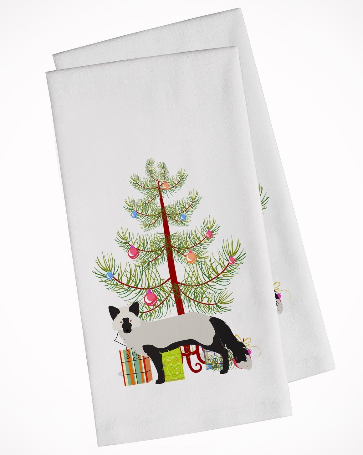 Buy this Silver Fox Christmas White Kitchen Towel Set of 2 BB9238WTKT