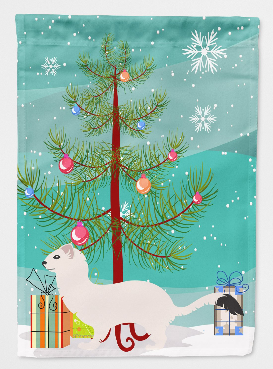 Buy this Stoat Short-tailed Weasel Christmas Flag Garden Size BB9239GF